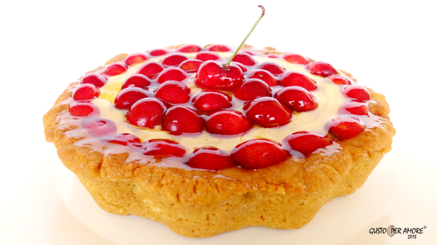 Cherry tart recipe - Recipes with olive oil - Gusto Per Amore