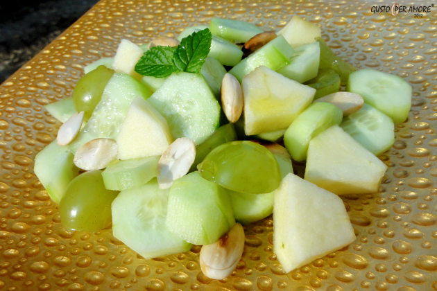 Cucumber salad -recipes with olive oil