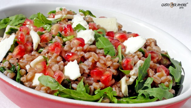 Fall salads made with pomegranate 2 - Recipes with olive oil - Gusto Per Amore