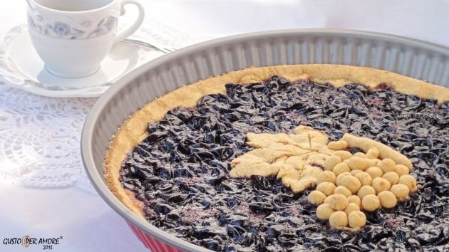 Tart with Montepulciano grape jam - Scrucchiata - Recipes with olive oil - Gusto Per Amore 03