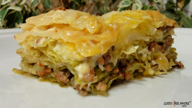 5 Cabbage Recipes - Vegetable lasagna - Recipes with olive oil - Gusto Per Amore