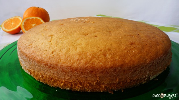 sponge cake made with yogurt and orange
